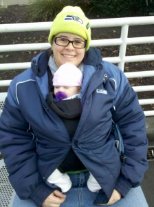 Infant travelling to a football game