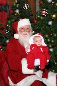 Kylah and Santa Claus