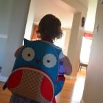Kylah's new owl backpack.